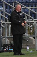 Alex Smith on the touchline at the Falkirk v St Mirren  Scottish Football Association Youth Cup 4th Round match played at the Falkirk Stadium, Falkirk on 16.12.12.