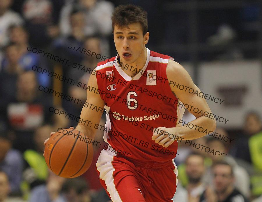 Kosarka ABA League season 2014-2015<br /> Partizan v Crvena Zvezda<br /> Nemanja Dangubic<br /> Beograd, 01.03.2015.<br /> foto: Srdjan Stevanovic/Starsportphoto&copy;