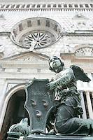 Dettaglio dell'esterno della Cappella Colleoni a Bergamo.<br /> Exterior detail of the Cappella Colleoni (Colleoni Chapel) in Bergamo.<br /> UPDATE IMAGES PRESS/Riccardo De Luca