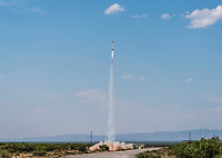 Rockets launch at the Spaceport America Cup near the town of Truth or Consequences, New Mexico, Friday, June 23, 2017. The International Intercollegiate Rocket Engineering Competition hosted over 110 teams from colleges and universities in eleven countries. Students launched solid, liquid, and hybrid rockets to target altitudes of 10,000 and 30,000 feet. The 2017 Spaceport America Cup winner was the University of Michigan, Ann Arbor, Team 79.<br /> <br /> Photo by Matt Nager