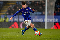 9th March 2020; King Power Stadium, Leicester, Midlands, England; English Premier League Football, Leicester City versus Aston Villa; Harvey Barnes of Leicester City controls the ball towards the end of the game