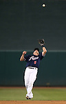 Reno Aces' Nick Ahmed makes a catch in the first game of the PCL championship series against the Omaha Storm Chasers, in Reno, Nev., on Monday, Sept. 8, 2014. <br /> Photo by Cathleen Allison