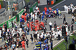 15.04.2018, Shanghai Audi International Circuit, Shanghai, 2018 FORMULA 1 HEINEKEN CHINESE GRAND PRIX, 12.04. - 15.04.2018<br /> im Bild<br />Startaufstellung<br />Max Verstappen (NEL#33), Aston Martin Red Bull Racing, Sebastian Vettel (GER#5), Scuderia Ferrari<br /> <br /><br /> <br /> Foto &copy; nordphoto / Bratic