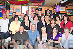 40th: Marie O'Connor of O'Rahillys Villas, Tralee who celebrated her 40th birthday in The Huddle Bar, Strand Road, Tralee on Sunday night (Marie is seated centre)..
