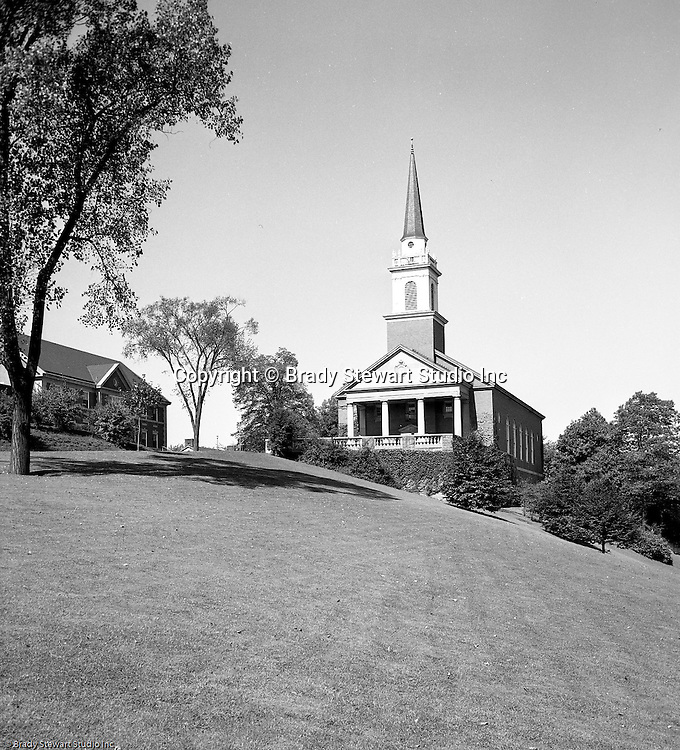 Pittsburgh PA:  View of the new Chapel at the Pennsylvania College for Women's campus - 1950. Pennsylvania College for Women changed it's name in 1955 to Chatham College.