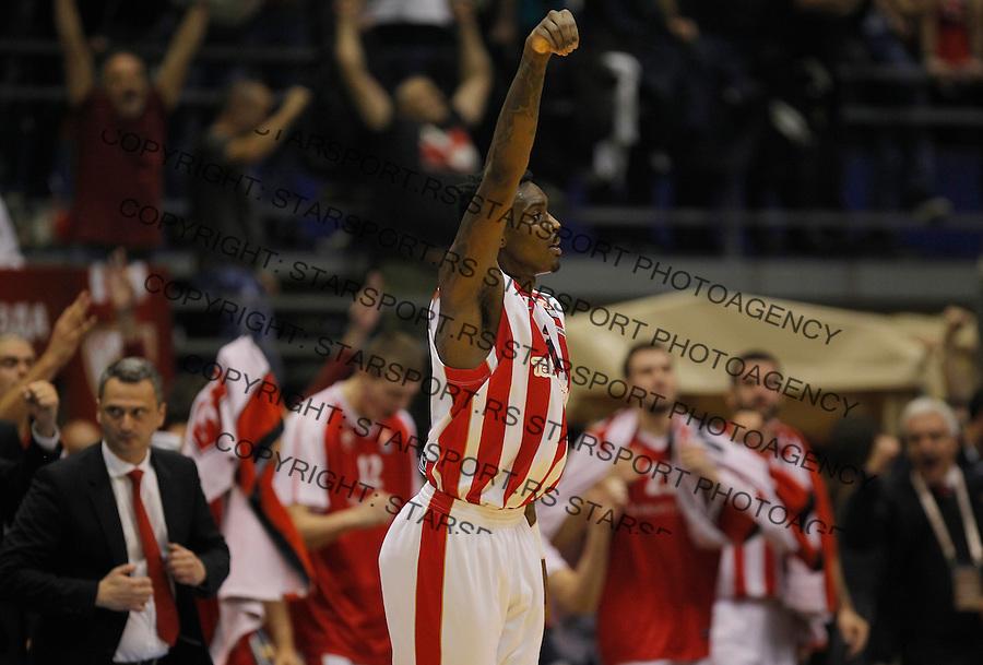 Kosarka Euroleague season 2015-2016<br /> Euroleague <br /> Crvena Zvezda v Real Madrid<br /> Quincy Miller celebrates<br /> Beograd, 27.11.2015.<br /> foto: Srdjan Stevanovic/Starsportphoto &copy;