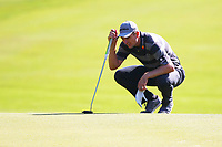 Justin Rose at the #3 green during the BMW PGA Golf Championship at Wentworth Golf Course, Wentworth Drive, Virginia Water, England on 25 May 2017. Photo by Steve McCarthy/PRiME Media Images.