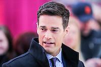 NEW YORK, NY, 02.12.2016 - ROB-MARCIANO - O jornalista Rob Marciano é visto em programa de televisão na região da Times Square em New York nesta sexta-feira, 02. (Foto: William Volcov/Brazil Photo Press)