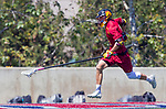 Los Angeles, CA 04/01/16 - Owen McNiff (Loyola Marymount #13) and Peter Hollen (USC #11) in action during the University of Southern California and Loyola Marymount University SLC conference game  USC defeated LMU.