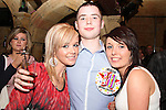 Podge Matthews with the two Beccas celebrating his birthday in Shooters...(Photo credit should read Jenny Matthews www.newsfile.ie)....This Picture has been sent you under the conditions enclosed by:.Newsfile Ltd..The Studio,.Millmount Abbey,.Drogheda,.Co Meath..Ireland..Tel: +353(0)41-9871240.Fax: +353(0)41-9871260.GSM: +353(0)86-2500958.email: pictures@newsfile.ie.www.newsfile.ie.