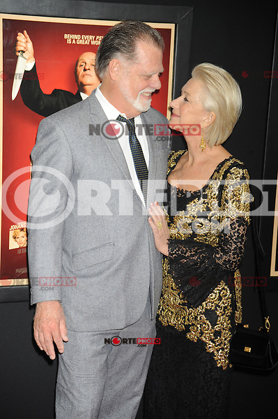 NEW YORK, NY - NOVEMBER 18: Taylor Hackford and Helen Mirren at the 'Hitchcock' New York Premiere at Ziegfeld Theatre on November 18, 2012 in New York City. Credit: mpi01/MediaPunch inc. NortePhoto