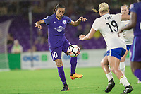 Orlando, FL - Saturday June 03, 2017: Marta during a regular season National Women's Soccer League (NWSL) match between the Orlando Pride and the Boston Breakers at Orlando City Stadium.