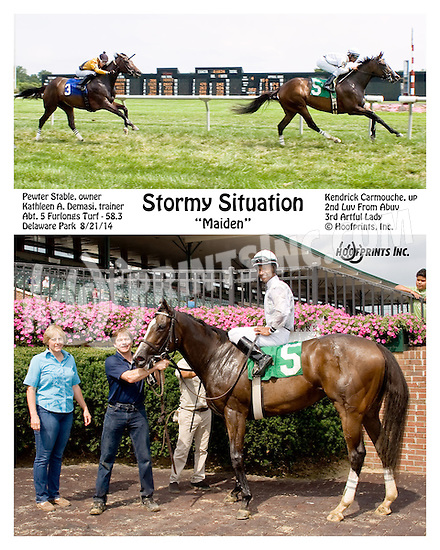 Stormy Situation winning at Delaware Park on 8/21/14