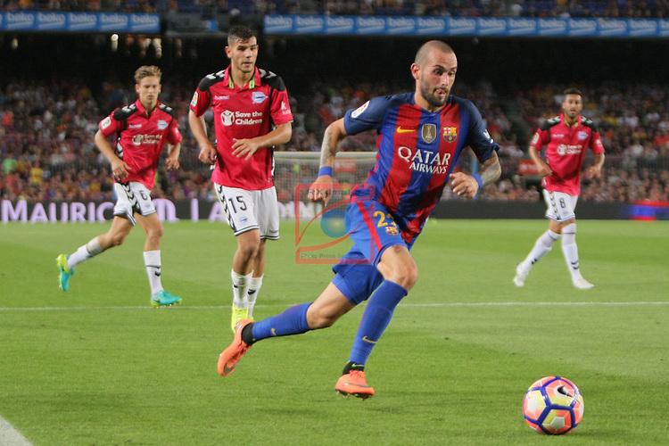 League Santander 2016/2017. Game: 3.<br /> FC Barcelona vs Deportivo Alaves: 1-2.<br /> Theo vs Aleix Vidal.
