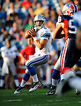 3 September 2009:  Detroit Lions' rookie quarterback Matthew Stafford in action during a pre-season game against the Buffalo Bills at Ralph Wilson Stadium in Orchard Park, New York. The Lions defeated the Bills 17-6...Mandatory Photo Credit: Ed Wolfstein Photo