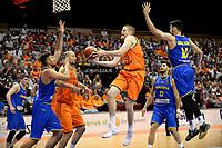GRONINGEN - Basketbal, Nederland - Roemenie, WK kwalificatie 2019, Martiniplaza, 28-06-2018 score van Roelof Schaftenaar
