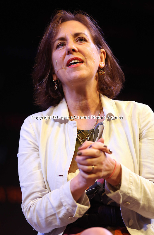 Wednesday 28 May 2014, Hay on Wye, UK<br /> Pictured: Kirsty Wark.<br /> Re: The Hay Festival, Hay on Wye, Powys, Wales UK.