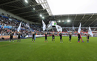 Guard of Honour before the Barclays Premier League match between Swansea City and Arsenal at the Liberty Stadium, Swansea on October 31st 2015