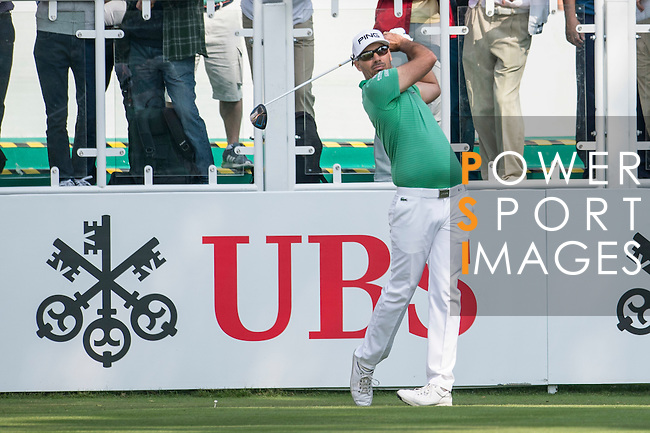Grégory Havret of France tees off the first hole during the 58th UBS Hong Kong Golf Open as part of the European Tour on 08 December 2016, at the Hong Kong Golf Club, Fanling, Hong Kong, China. Photo by Marcio Rodrigo Machado / Power Sport Images