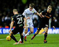 Leeds United's Jack Clarke takes on Hull City's Stephen Kingsley and Jarrod Bowen<br /> <br /> Photographer Alex Dodd/CameraSport<br /> <br /> The EFL Sky Bet Championship - Leeds United v Hull City - Saturday 29th December 2018 - Elland Road - Leeds<br /> <br /> World Copyright © 2018 CameraSport. All rights reserved. 43 Linden Ave. Countesthorpe. Leicester. England. LE8 5PG - Tel: +44 (0) 116 277 4147 - admin@camerasport.com - www.camerasport.com