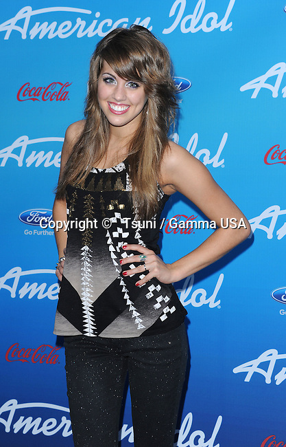 Angie Miller 20 at the American Idol, the 10 Finalists party at the Groves in Los Angeles.