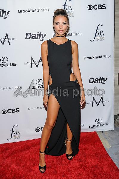 08 September 2016 - New York, New York- Emily Ratajkowski. Daily Front Row's Fourth Annual Fashion Media Awards. Photo Credit: Mario Santoro/AdMedia
