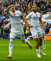 Leeds United's Pablo Hernandez celebrates scoring his side's first goal<br /> <br /> Photographer Alex Dodd/CameraSport<br /> <br /> The EFL Sky Bet Championship - Wigan Athletic v Leeds United - Sunday 4th November 2018 - DW Stadium - Wigan<br /> <br /> World Copyright &copy; 2018 CameraSport. All rights reserved. 43 Linden Ave. Countesthorpe. Leicester. England. LE8 5PG - Tel: +44 (0) 116 277 4147 - admin@camerasport.com - www.camerasport.com