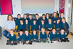 Elaine O'Sullivan and her Nagle-Rice NS junior infants who started in the brand new school on Tuesday were front row l-r: Cian Fitztpatrick, Cillian casey, Shane O'Neill, Ava O'Donoghue, Joe Stephens, Aisling quirke, nathan O'Sullivan. Middle row: Amy Ebzery, Aisling O'sullivan, Ciara McClure, Katie Bell, Leah McCarthy, Rachel Enright, Emily Quirke. Back row: Saoirse dinham, Katie Connolly, Oisin Nagle, Tomas Lynch, Lauren O'sullivan, Kate Collum, Amber Lane, and Chloe O'Sullivan