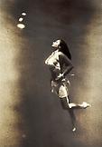 USA, Hawaii, young woman swimming underwater, Kealakekua Bay, The Big Island (B&W)