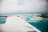 EXUMA, Bahamas. View of the Exuma Islands from the plane.