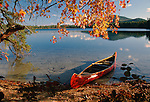 Canoe at White Lake State Park, Tamworth, New Hampshire, USA