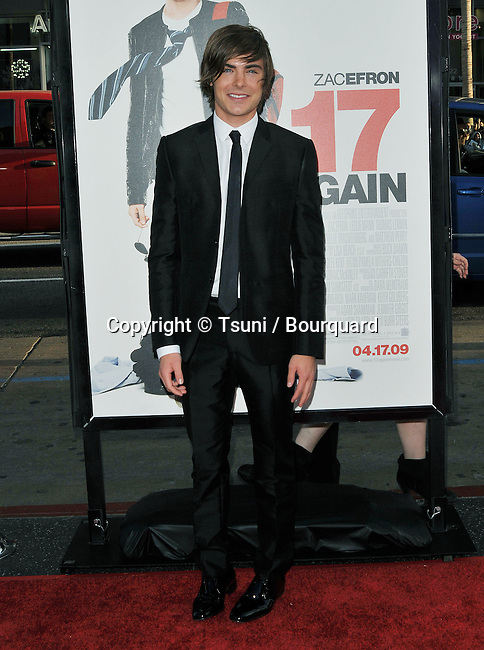 Zac Efron  -<br /> 17 Again Los Angeles Premiere at the Chinese Theatre In Los Angeles.