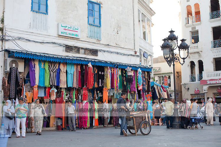 Place de la Victoire in Tunis, Tunisia is an entrance point to the Medina (old city).