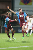 Tom Hopper of Scunthorpe Utd the scorer of United's first goal<br />  - Scunthorpe United vs MK Dons - Sky Bet League One Football at Glanford Park, Scunthorpe, Lincolnshire - 27/01/15 - MANDATORY CREDIT: Mark Hodsman/TGSPHOTO - Self billing applies where appropriate - contact@tgsphoto.co.uk - NO UNPAID USE