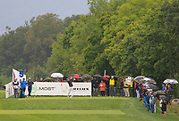 Matteo Manassero (ITA) on the 5th tee during Round 3 of the D+D Real Czech Masters at the Albatross Golf Resort, Prague, Czech Rep. 02/09/2017<br /> Picture: Golffile | Thos Caffrey<br /> <br /> <br /> All photo usage must carry mandatory copyright credit     (&copy; Golffile | Thos Caffrey)