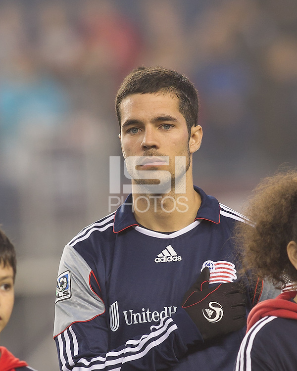 New England Revolution midfielder Benny Feilhaber (22). In a Major League Soccer (MLS) match, the New England Revolution defeated Sporting Kansas City, 3-2, at Gillette Stadium on April 23, 2011.