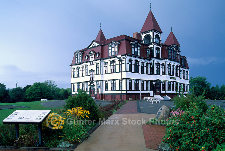 Old Town Lunenburg, a UNESCO World Heritage Site, NS, Nova Scotia, Canada - Lunenburg Academy (built 1894 to 1895)