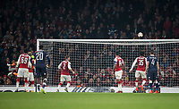 Goalkeeper Matt Macey of Arsenal tips a shot onto the crossbar during the UEFA Europa League group stage match between Arsenal and FC Red Star Belgrade at the Emirates Stadium, London, England on 2 November 2017. Photo by Andy Rowland.