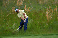 Hideki Matsuyama (JPN) chips on to 5 during round 4 of the 2019 PGA Championship, Bethpage Black Golf Course, New York, New York,  USA. 5/19/2019.<br /> Picture: Golffile | Ken Murray<br /> <br /> <br /> All photo usage must carry mandatory copyright credit (© Golffile | Ken Murray)