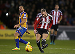 Matt Done of Sheffield Utd has a shot on goal during the English League One match at the Bramall Lane Stadium, Sheffield. Picture date: November 19th, 2016. Pic Simon Bellis/Sportimage