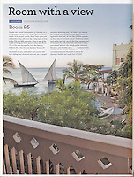 Cond&eacute; Nast Traveler (U.K. edition), December 2010, &quot;Room with a View&quot; feature.<br />