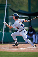 Detroit Tigers Luke Burch (58) at bat during an Instructional League game against the Atlanta Braves on October 10, 2017 at the ESPN Wide World of Sports Complex in Orlando, Florida.  (Mike Janes/Four Seam Images)