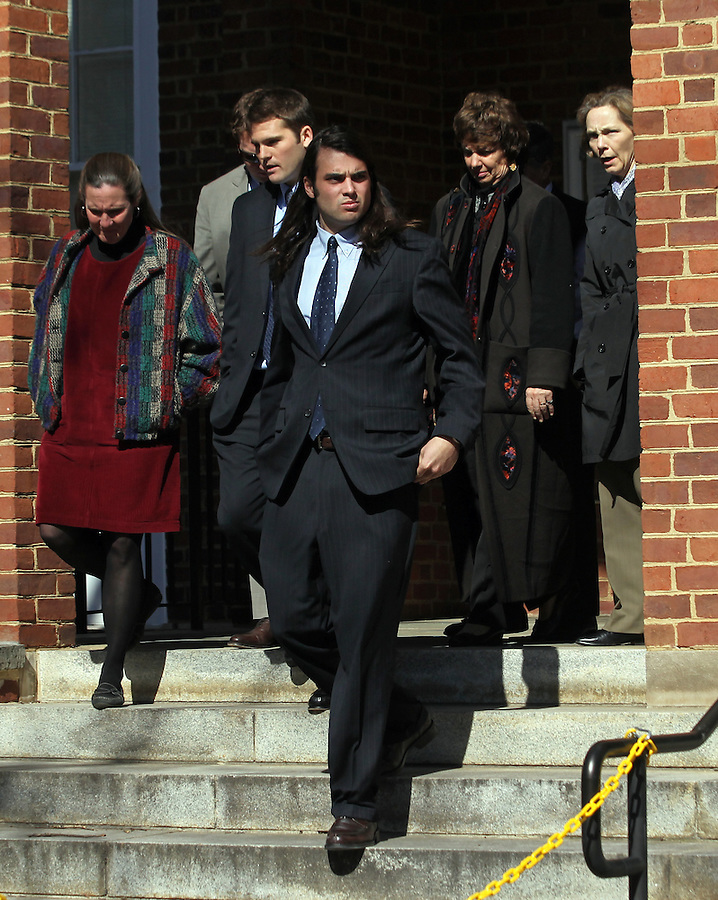 CHARLOTTESVILLE, VA - FEBRUARY 15: Former UVa lacrosse player Ken Clausen testified on the witness stand during the George Huguely trial. Huguely was charged in the May 2010 death of his girlfriend Yeardley Love. She was a member of the Virginia women's lacrosse team. Huguely pleaded not guilty to first-degree murder. (Credit Image: © Andrew Shurtleff