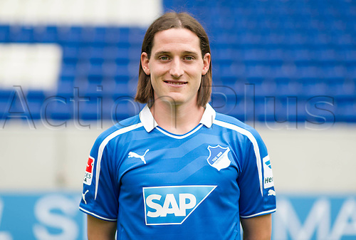 11.07.2013. Sinsheim, Germany.  Player Sebastian Rudy of German Bundesliga club TSG 1899 Hoffenheim during the official photocall for the season 2013-14  in the Rhein-Neckar-Arena in Sinsheim (Baden-Wuerttemberg).