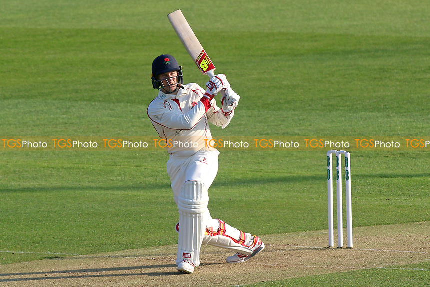 Kyle Jarvis in batting action for Lancashire during Essex CCC vs Lancashire CCC, Specsavers County Championship Division 1 Cricket at The Cloudfm County Ground on 7th April 2017