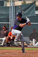 Colorado Rockies Sam Hilliard (78) during an instructional league game against the San Francisco Giants on October 7, 2015 at the Giants Baseball Complex in Scottsdale, Arizona.  (Mike Janes/Four Seam Images)