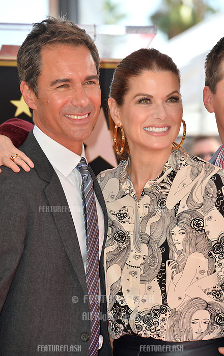 "LOS ANGELES, CA. September 13, 2018: Eric McCormack & Debra Messing at the Hollywood Walk of Fame Star Ceremony honoring ""Will & Grace"" star Eric McCormack."