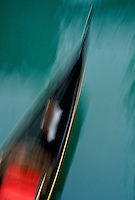 Italy, Venice. gondola blurred motion