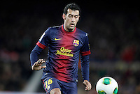 FC Barcelona's Sergio Busquets during Copa del Rey - King's Cup semifinal second match.February 26,2013. (ALTERPHOTOS/Acero) /Nortephoto