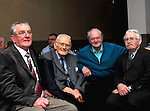 John Doyle, Jim Reidy, Martin Curry and Celestine 'Tiny' Kelly enjoying the Westport Town Band reunion at The Plaza Hotel Westport...Pic Conor McKeown